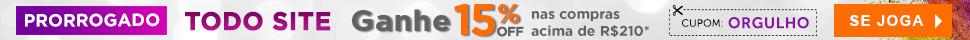 Topo: 15% off Orgulho Prorrogado