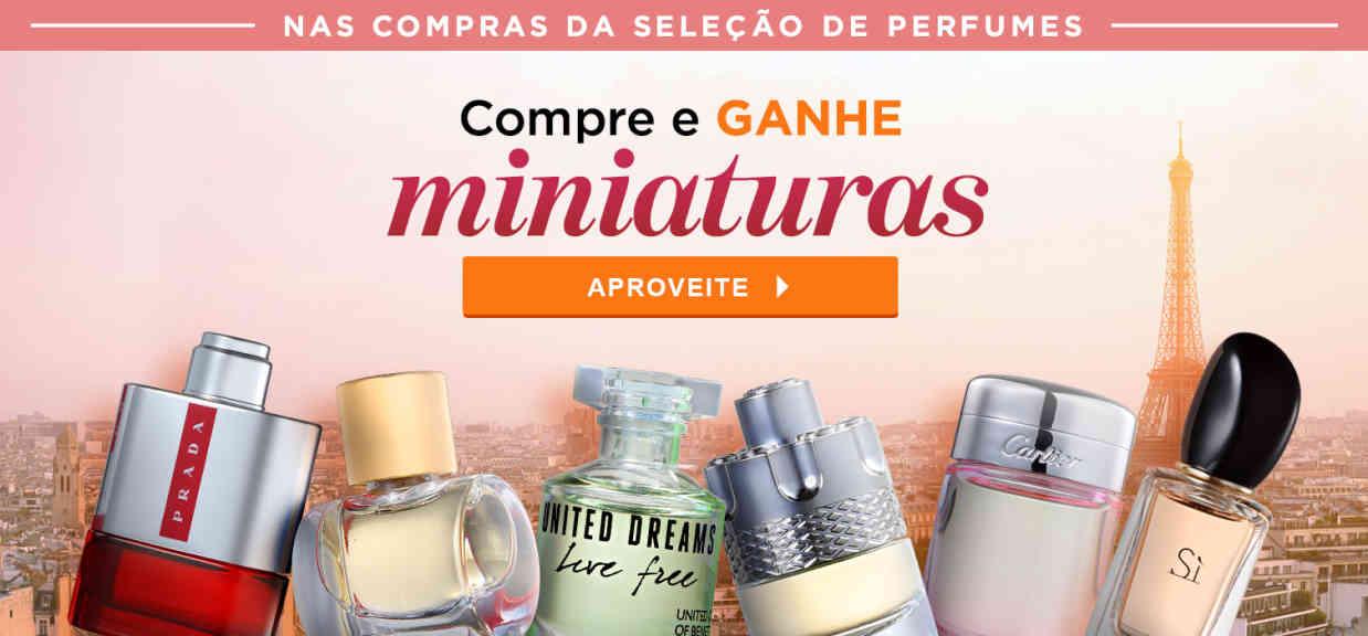 Perfumes: Ganhe Miniaturas