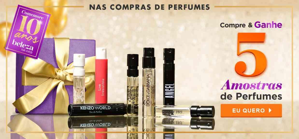 Perfumes: Ganhe 5 amostras aniversario 2