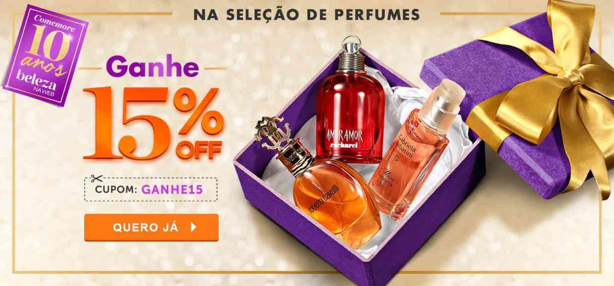 Perfumes: Cupom 15% off Aniversario