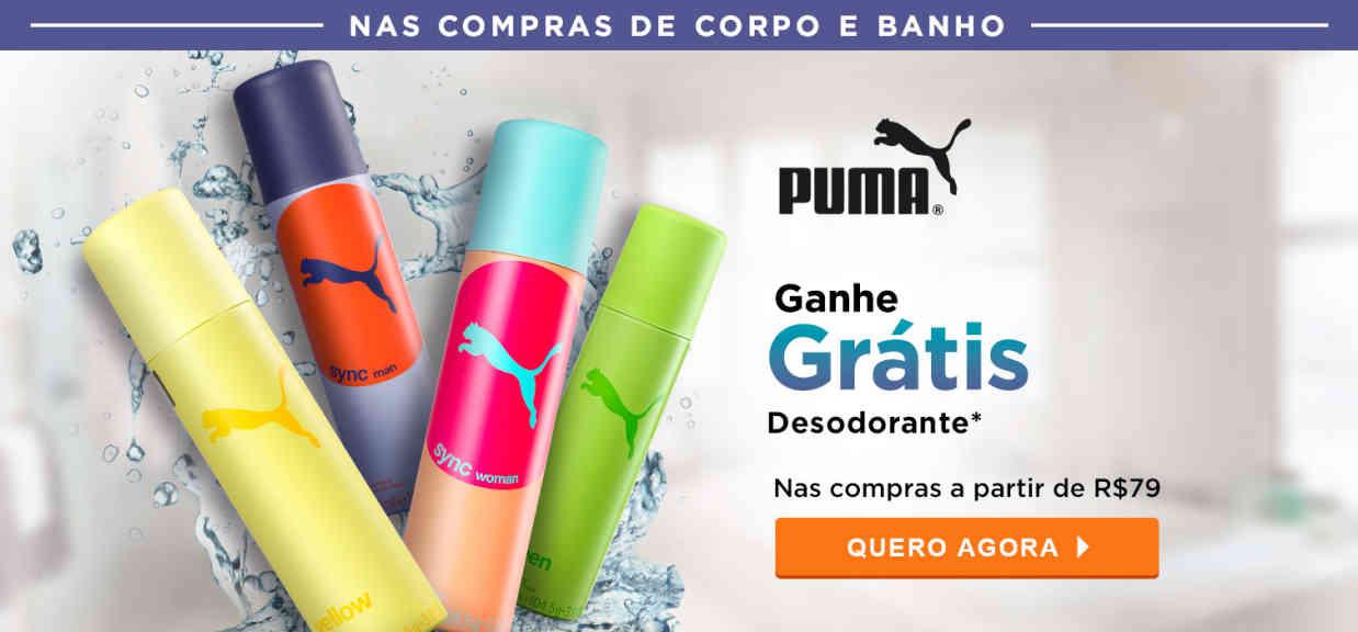 Corpo: Nas compras a partir 79 desodorante puma