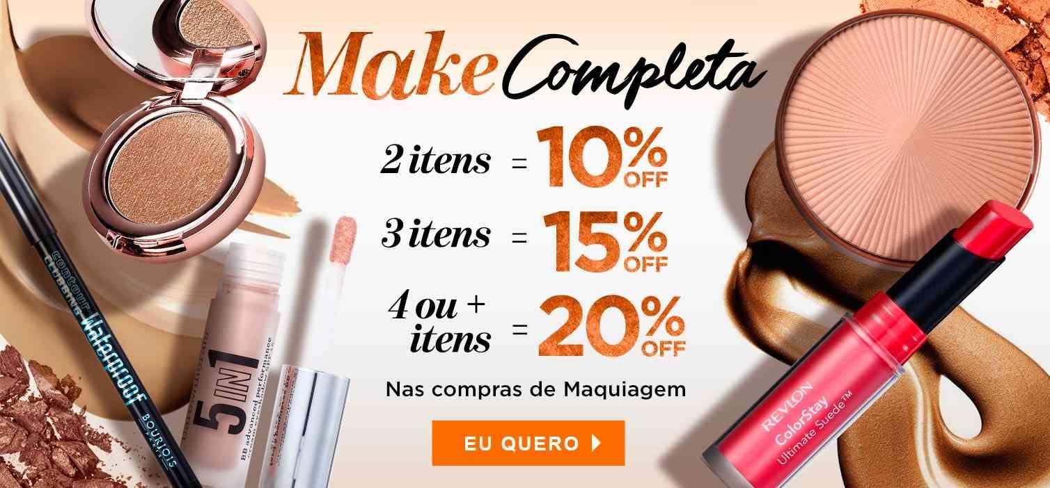 Maquiagem: Make completa junho