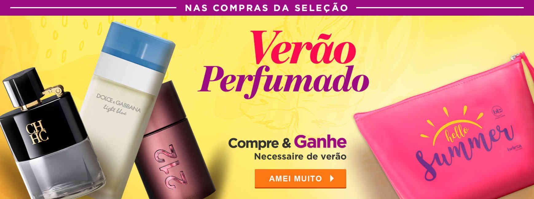 Perfumes: Ganhe necessaire na seleção
