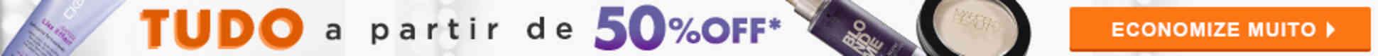 Tudo a partir de 50%off