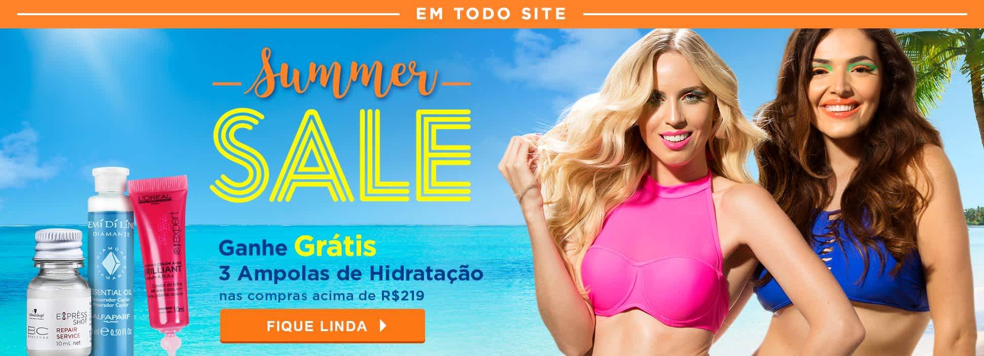 Home: Summer Sale ganhe 3 Ampolas