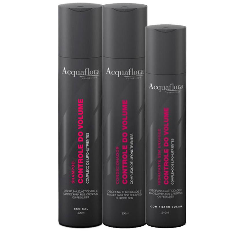 Acquaflora Controle Do Volume Hidratante Kit (3 Produtos)