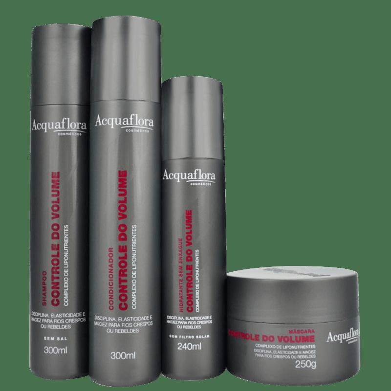 Acquaflora Controle Do Volume Máscara Kit (4 Produtos)