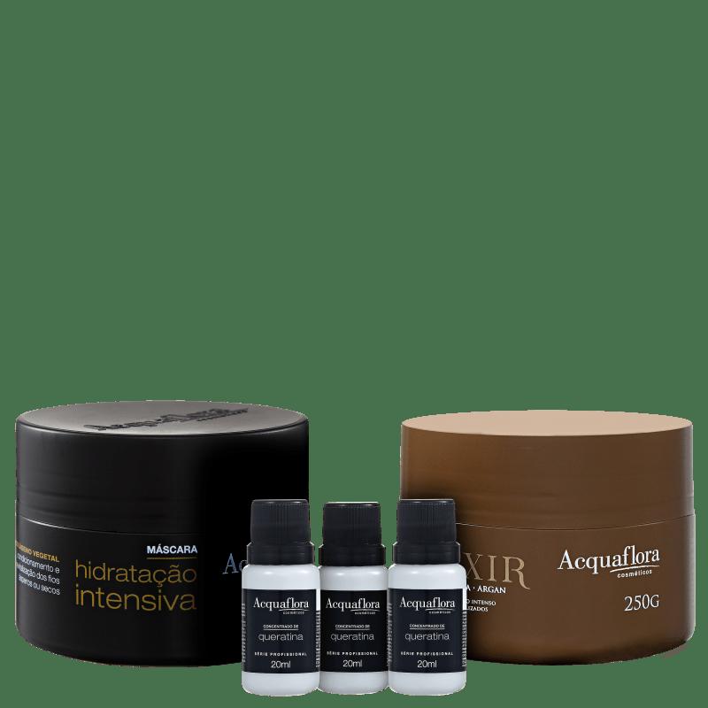 Acquaflora Cronograma Capilar Força e Maciez Kit (3 Produtos)