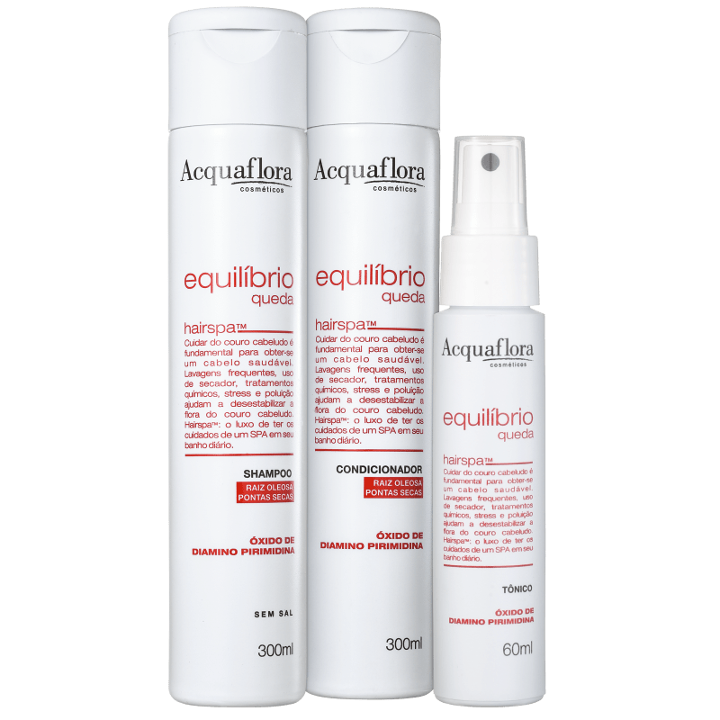 Kit Acquaflora Equilíbrio Queda Super (3 Produtos)