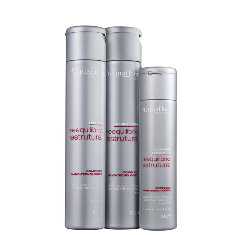 Acquaflora Reequilíbrio Estrutural Hidratante Kit (3 Produtos)