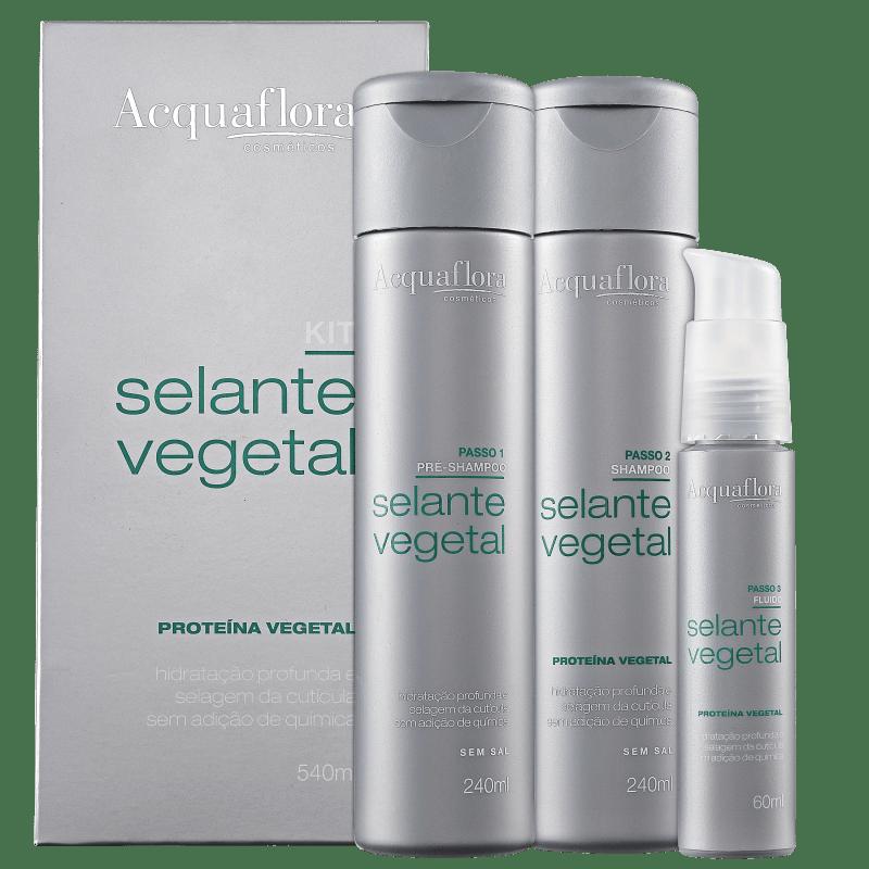 Kit Acquaflora Selante Vegetal (3 Produtos)