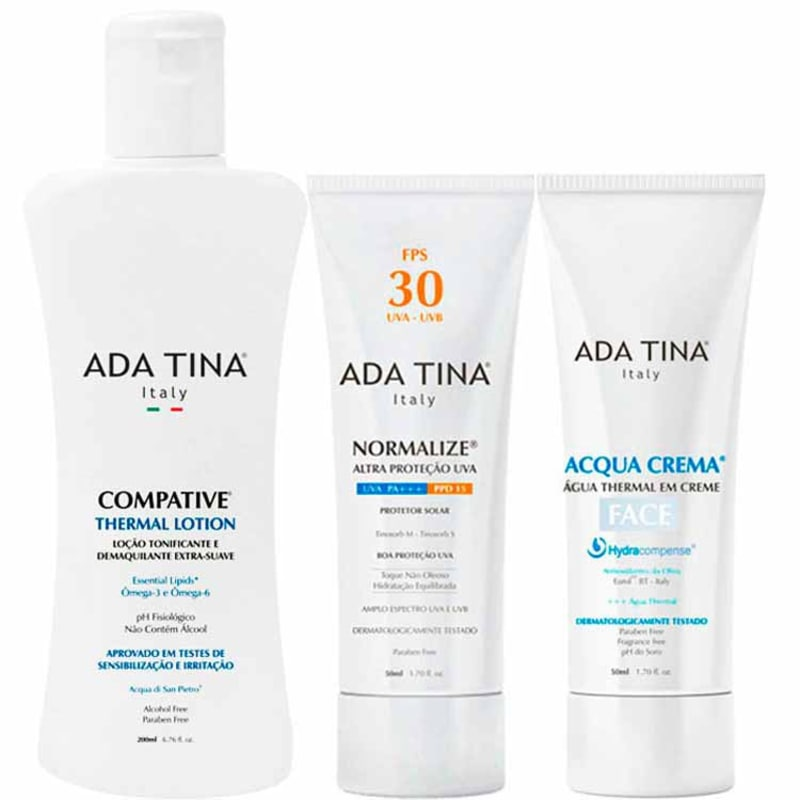 Kit Ada Tina Acqua Normalize Thermal (3produtos)