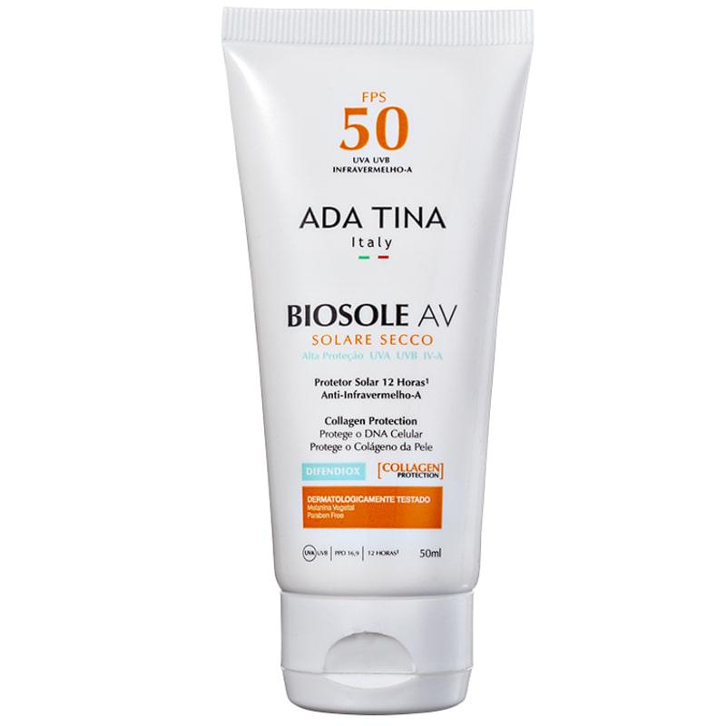 Ada Tina Biosole AV FPS 50 - Protetor Solar Facial 50g