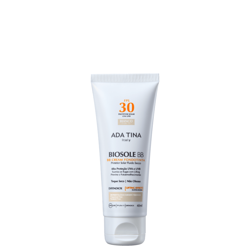 Ada Tina Biosole BB Cream FPS30 Bianco - Protetor Facial com Cor 40ml