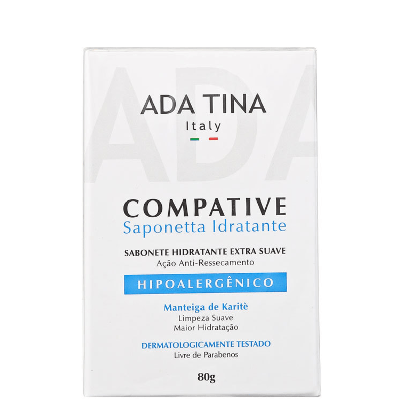 Ada Tina Compative Saponetta Idratante - Sabonete Hidratante 80g