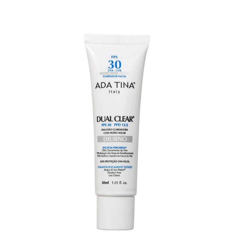 Ada Tina Dual Clear Diurno FPS 30 PPD 12,5 -  Creme Clareador e Revitalizante 30ml