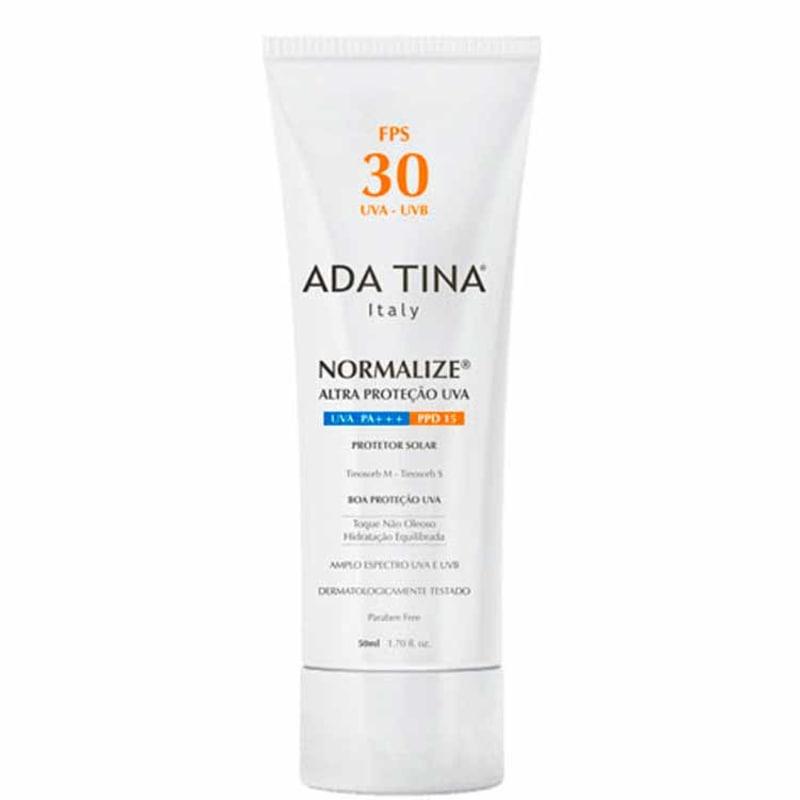 Ada Tina Normalize FPS 30 - Protetor Solar Facial 50ml