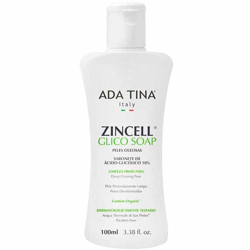 Ada Tina Zincell Glico Soap - Sabonete Líquido Facial 100ml
