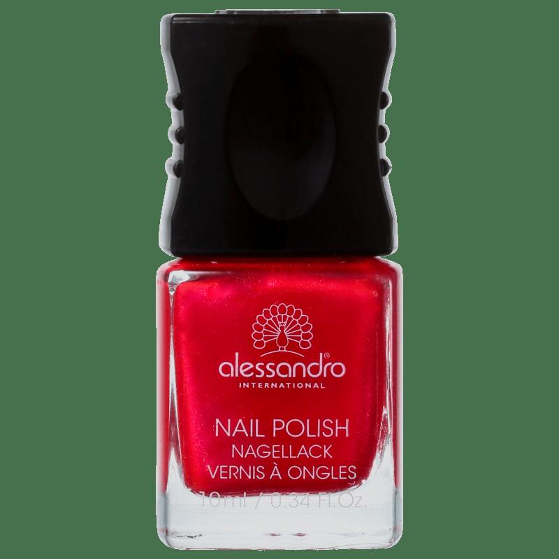 Alessandro International Nail Polish Berry Red - Esmalte Cremoso 10ml