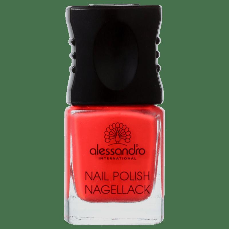 Alessandro International Nail Polish Orange Red - Esmalte Cremoso 10ml