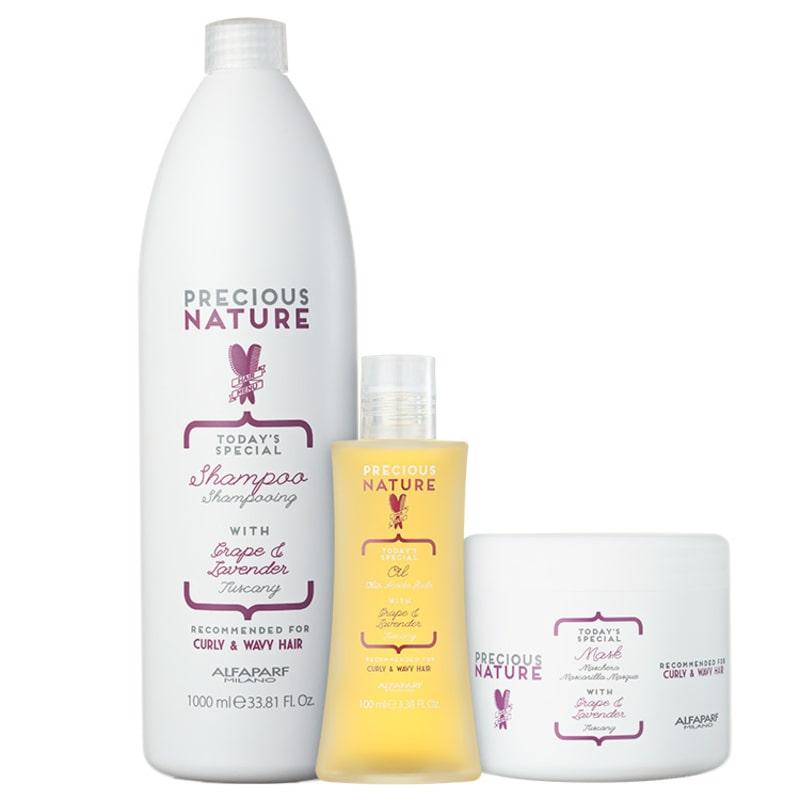 Alfaparf Precious Nature Grape & Lavender Salon Trio Kit (3 Produtos)