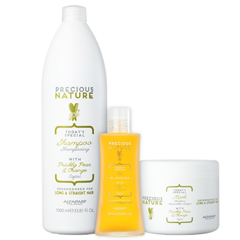 Kit Alfaparf Precious Nature Prickly Pear & Orange Salon Trio (3 Produtos)