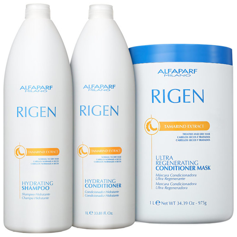 Alfaparf Rigen Tamarind Extract Ultra Regenerating Profissional Triplo Kit (3 Produtos)
