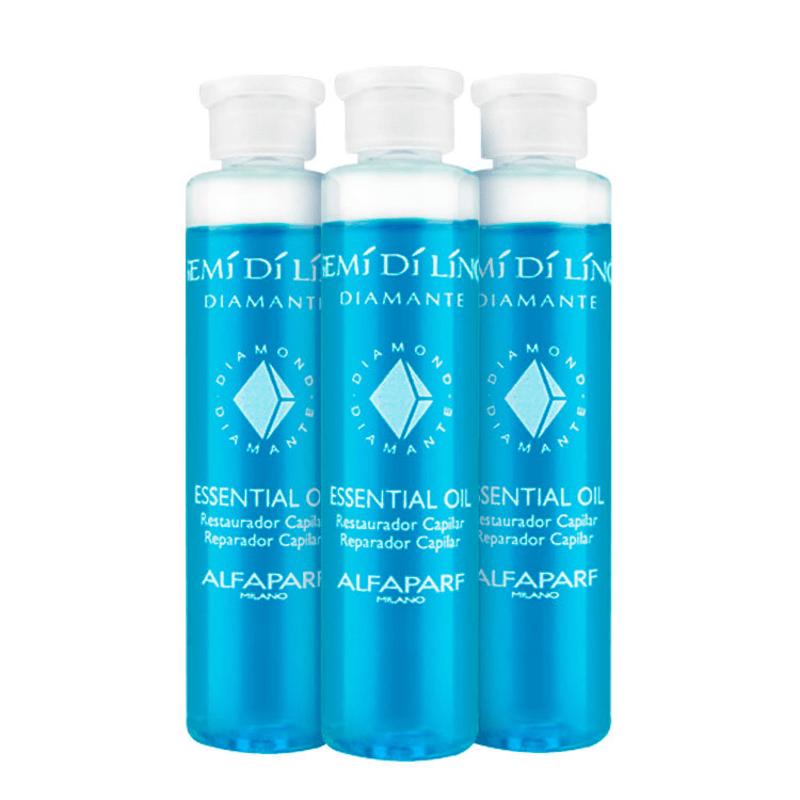 Alfaparf Semi di Lino Diamante Essential Oil - Ampola de Tratamento 3x15ml