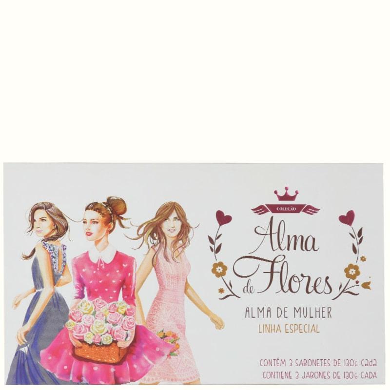 Kit Alma de Flores Alma de Mulher - Sabonetes em Barra 3x130g