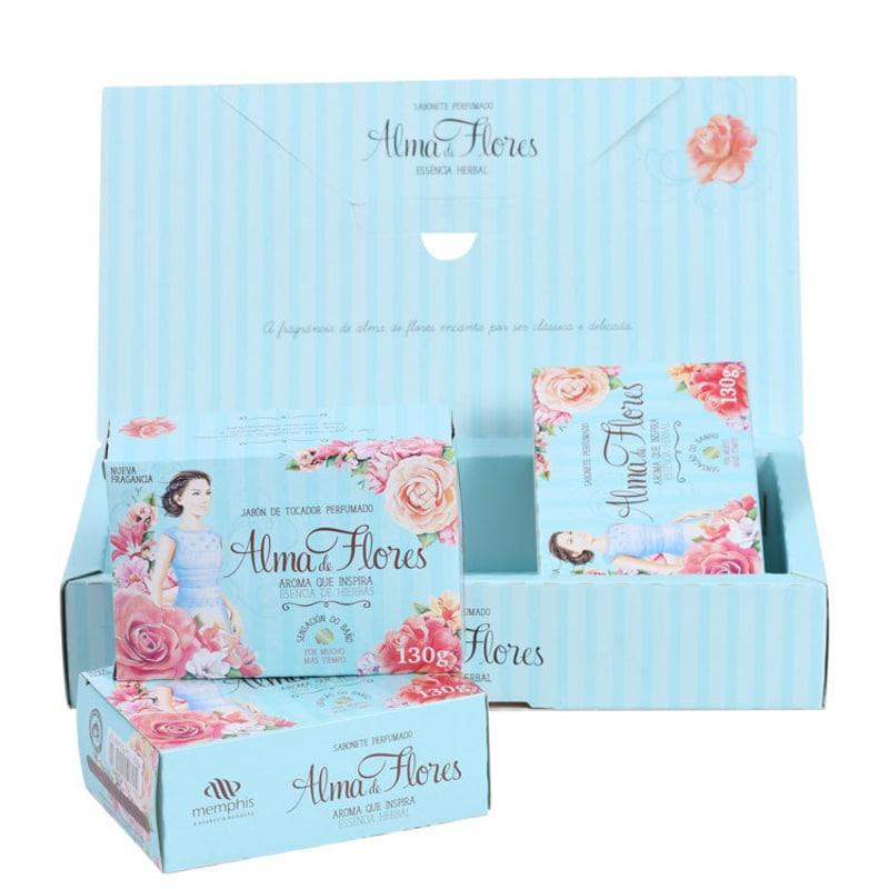 Kit Alma de Flores Herbal - Sabonetes em Barra 3x130g