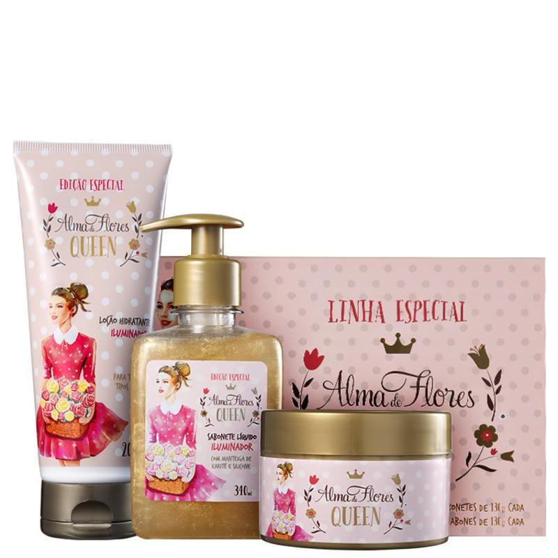Kit Alma de Flores Queen Completo (4 produtos)