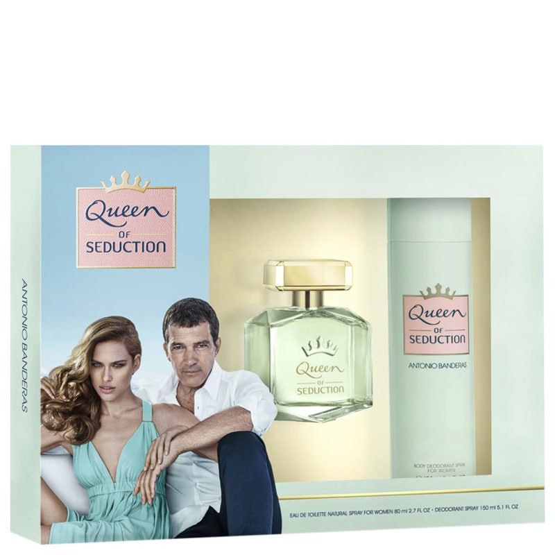 Conjunto Queen of Seduction Antonio Banderas Feminino - Eau de Toilette 80ml + Desodorante 150ml