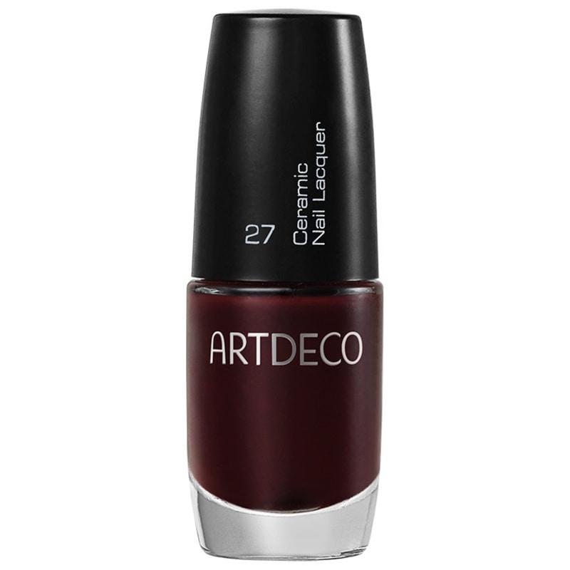 Artdeco Ceramic Nail Lacquer 27 Black Red - Esmalte Cremoso 6ml