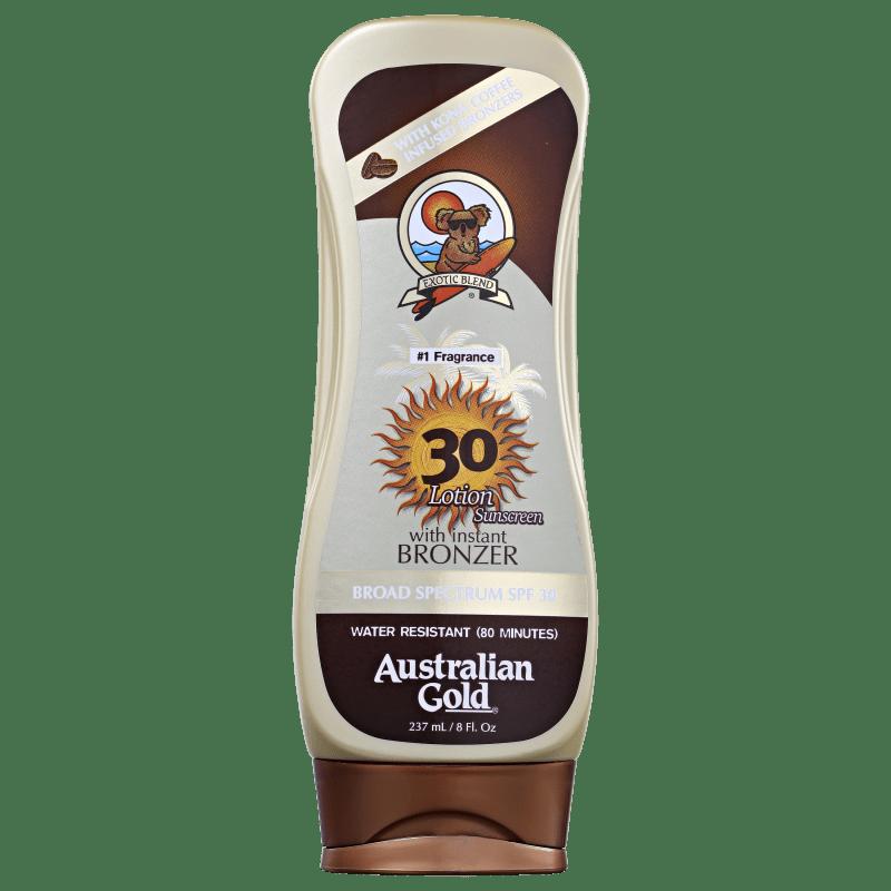 Australian Gold Lotion Kona Coffee FPS 30 - Protetor Solar em Loção 237ml