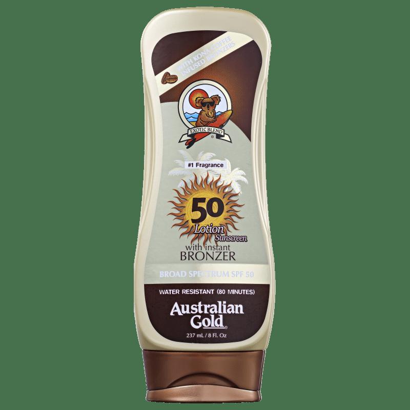 Australian Gold Lotion Sunscreen Kona Coffee FPS 50 - Protetor Solar em Loção 237ml