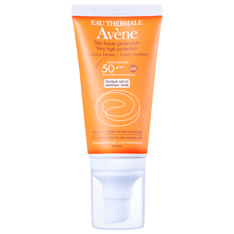 Avène Very High Protection Tinted Oil Free FPS 50 - Protetor Solar Facial 50ml