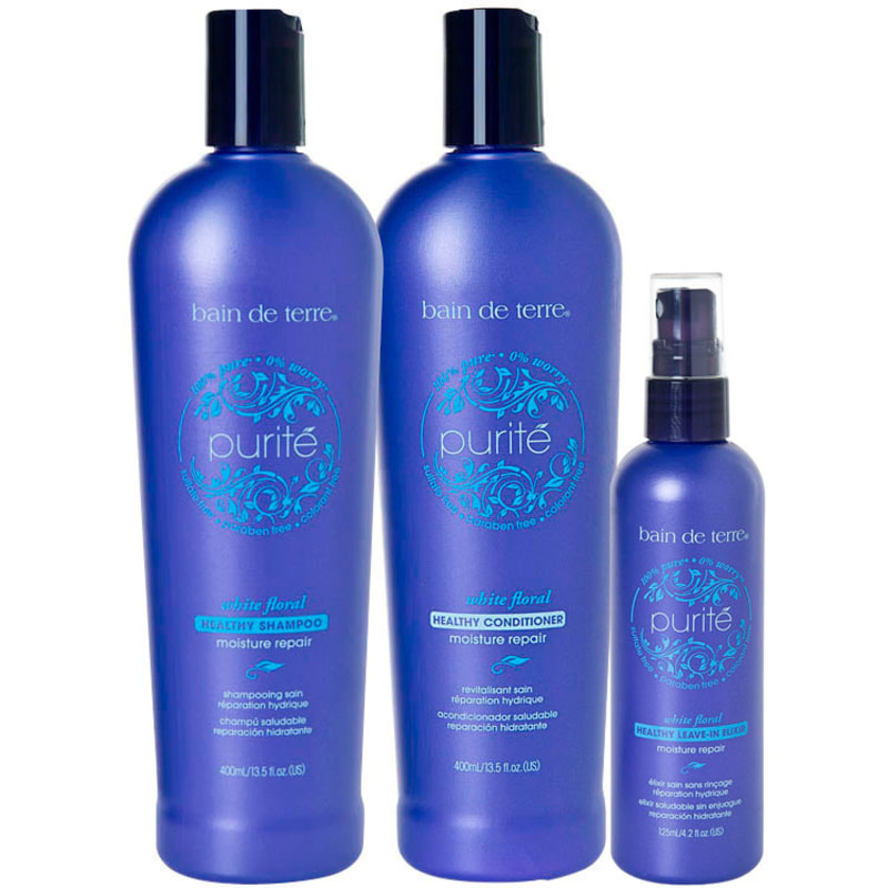 Bain de Terre Purité Healthy Moisture Repair Elixir Kit (3 Produtos)