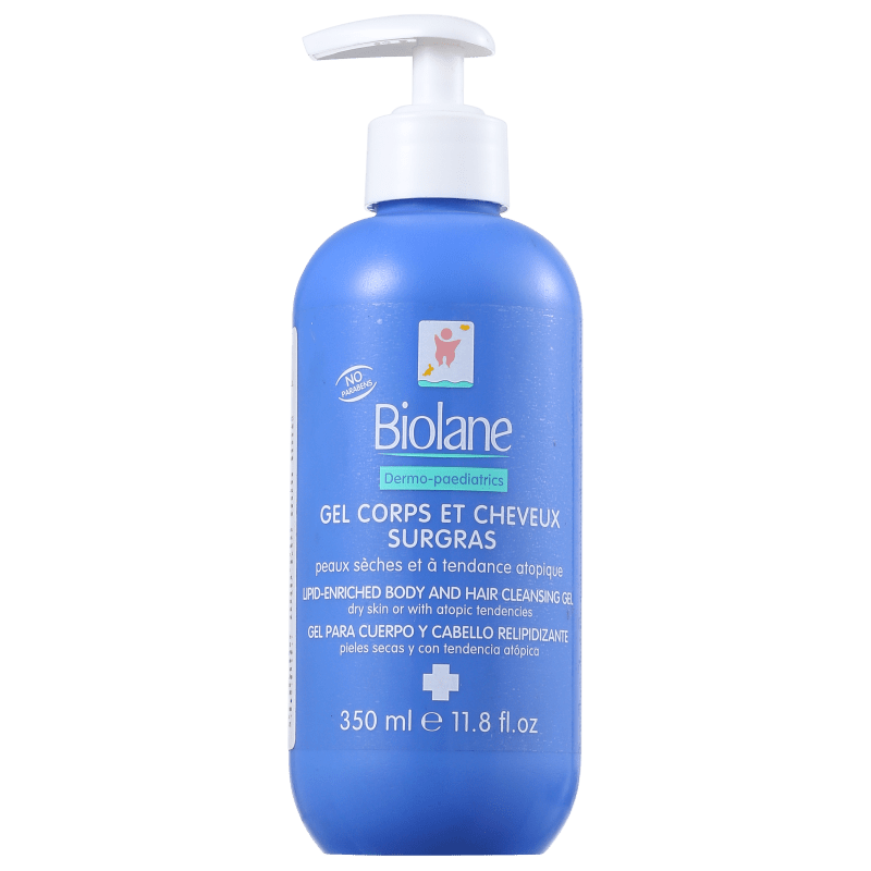 Biolane Gel Corps Et Cheveux Surgras - Gel de Limpeza 350ml