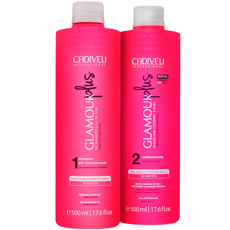 Kit Cadiveu Professional Glamour Rubi Plus Escova Duo (2 Produtos)