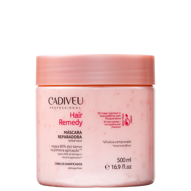 Cadiveu Professional Hair Remedy - Máscara Capilar 500ml