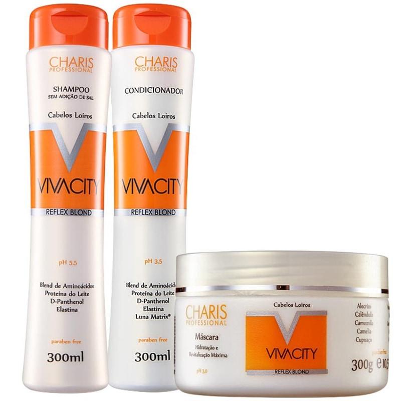 Charis Vivacity Reflex Blond Tratamento Kit (3 Produtos)