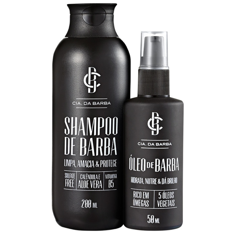 Kit Barba Cia da Barba - Shampoo 200ml + Óleo 50ml