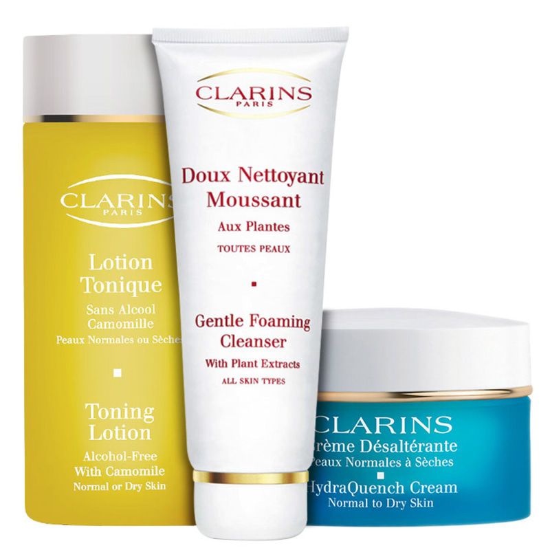 Clarins Nettoyant With Camomile Hydraquench Kit (3 Produtos)