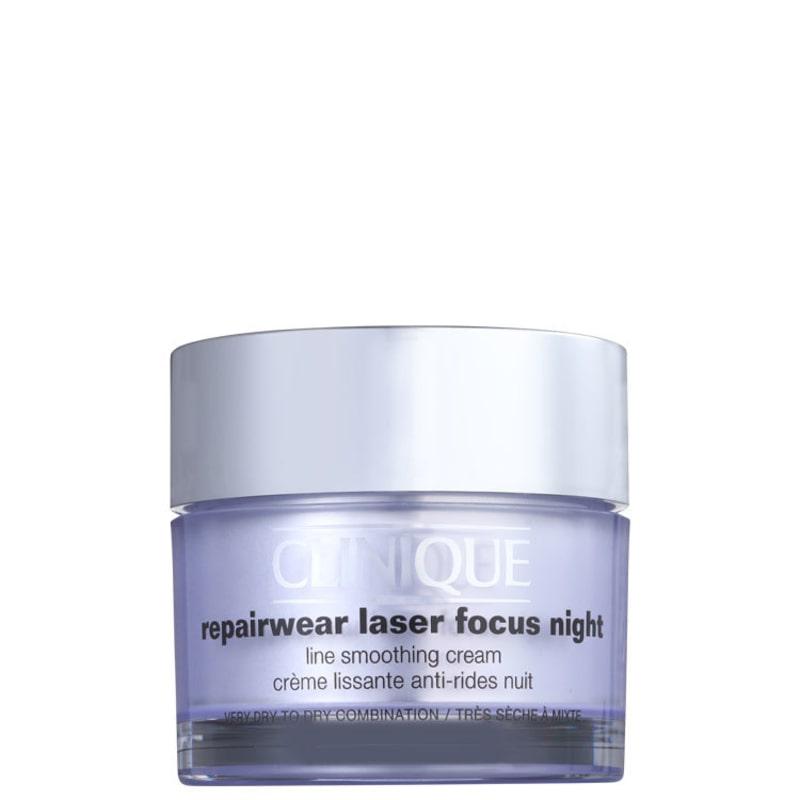 Clinique Repairwear Laser Focus Night Line Smoothing Cream 1 e 2 (pele seca) - Creme Noturno 50ml