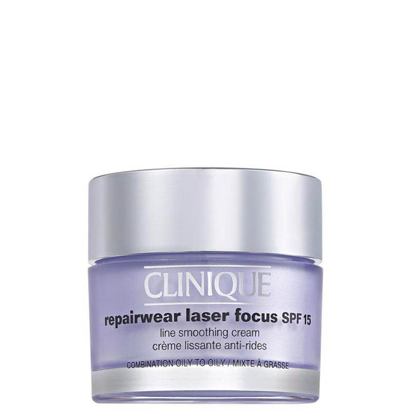 Clinique Repairwear Laser Focus SPF 15 Line Smoothing Cream 3 e 4 (pele oleosa) - Creme Anti-Idade 50ml