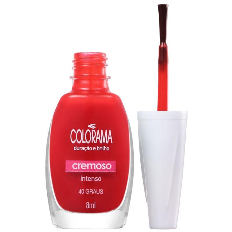 Colorama Verniz & Cor 40 Graus - Esmalte Cremoso 8ml