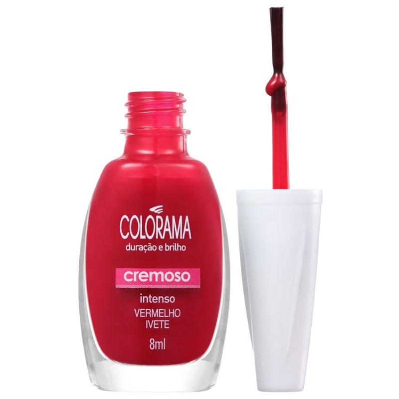 Colorama Verniz & Cor Vermelho Ivete - Esmalte Cremoso 8ml