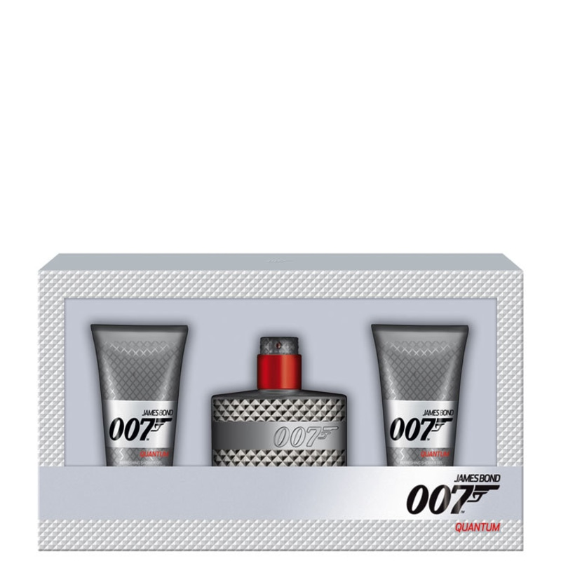 Conjunto 007 Quantum James Bond Masculino - Eau de Toilette 50ml + Gel de Banho 2 x 50ml