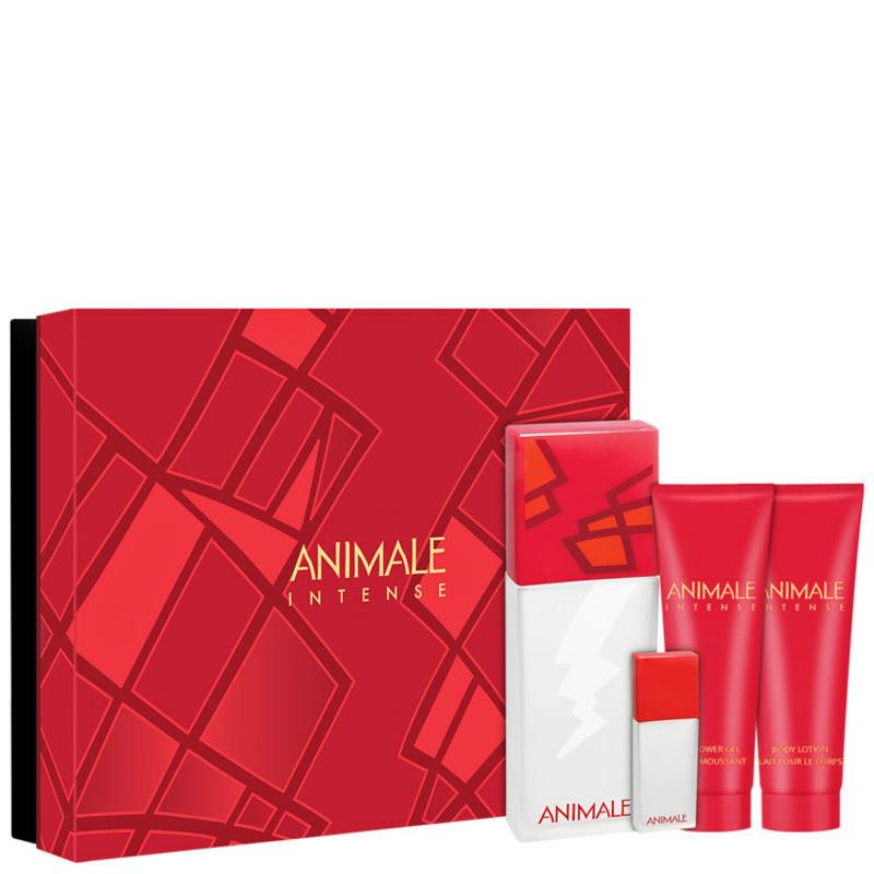 Conjunto Animale Intense For Women Feminino - Eau de Parfum 100ml + Loção 90ml + Shower Gel 90ml + Eau de Parfum 7,5ml