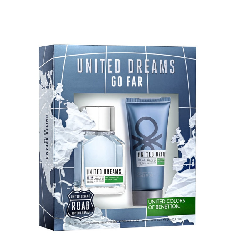 Conjunto Benetton United Dreams Go Far Masculino - Eau de Toilette 100ml + Gel Pós-Barba 100ml